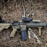 """Uma das configurações da HK416 a5 de 11"""" usadas pelo Centro de Tropas de Operações Especiais"""