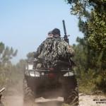 Snipers do pelotão reconhecimento usam uma moto 4 (ATV - All Terrain Vehicle) para se deslocarem