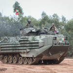 Blindado anfíbio AAV7 do Reggimento Lagunari Serenissima