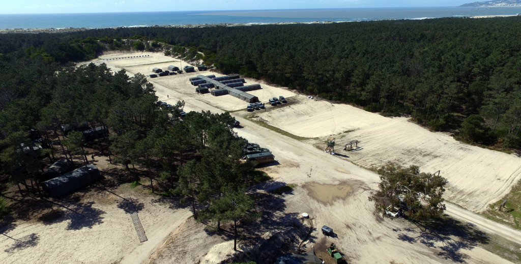 Vista Aérea de toda a área envolvida pelo posto de Comando da Brigada de Intervenção