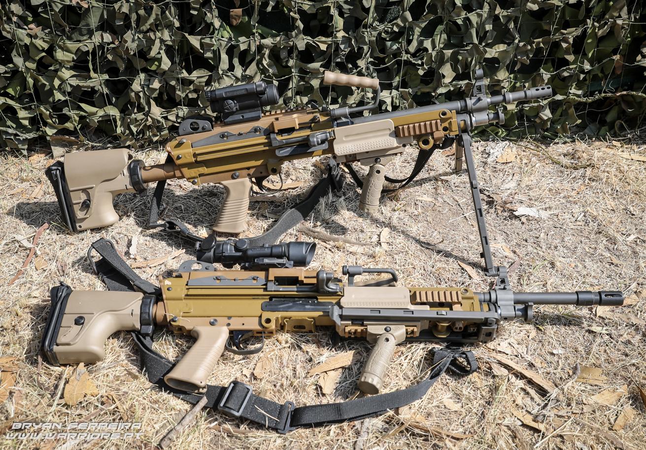 Portuguese Army FN Minimi 5,56 and 7,62