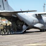 EADS C-295M faz evacuação de cidadão nacionais e da respectiva Protection Force de Comandos.