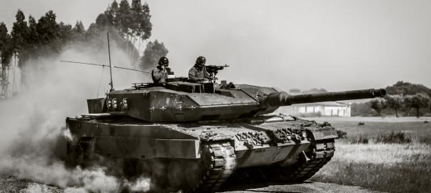 Leopard do Grupo de Carros de Combate da Brigada Mecanizada