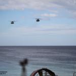 Helicopteros CH53 Super Stallion dos US MArines transportam Fuzileiros Portugueses e US Marines até um objectivo no interior da costa