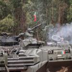 1º Esquadrão de Carros de Combate Leopard 2A6 Portugueses e AAV7 Italianos do Reggimento Lagunari Serenissima