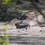 PANDUR 8x8 inicia deslocamento após travessia do Rio Tejo