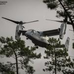 MV-22 Osprey dos US Marines prepara aterragem