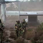 Fuzileiros Portugueses desembarcam de um MV-22 Osprey dos US MArines