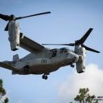 MV-22 Osprey dos US Marines em voo de aproximação