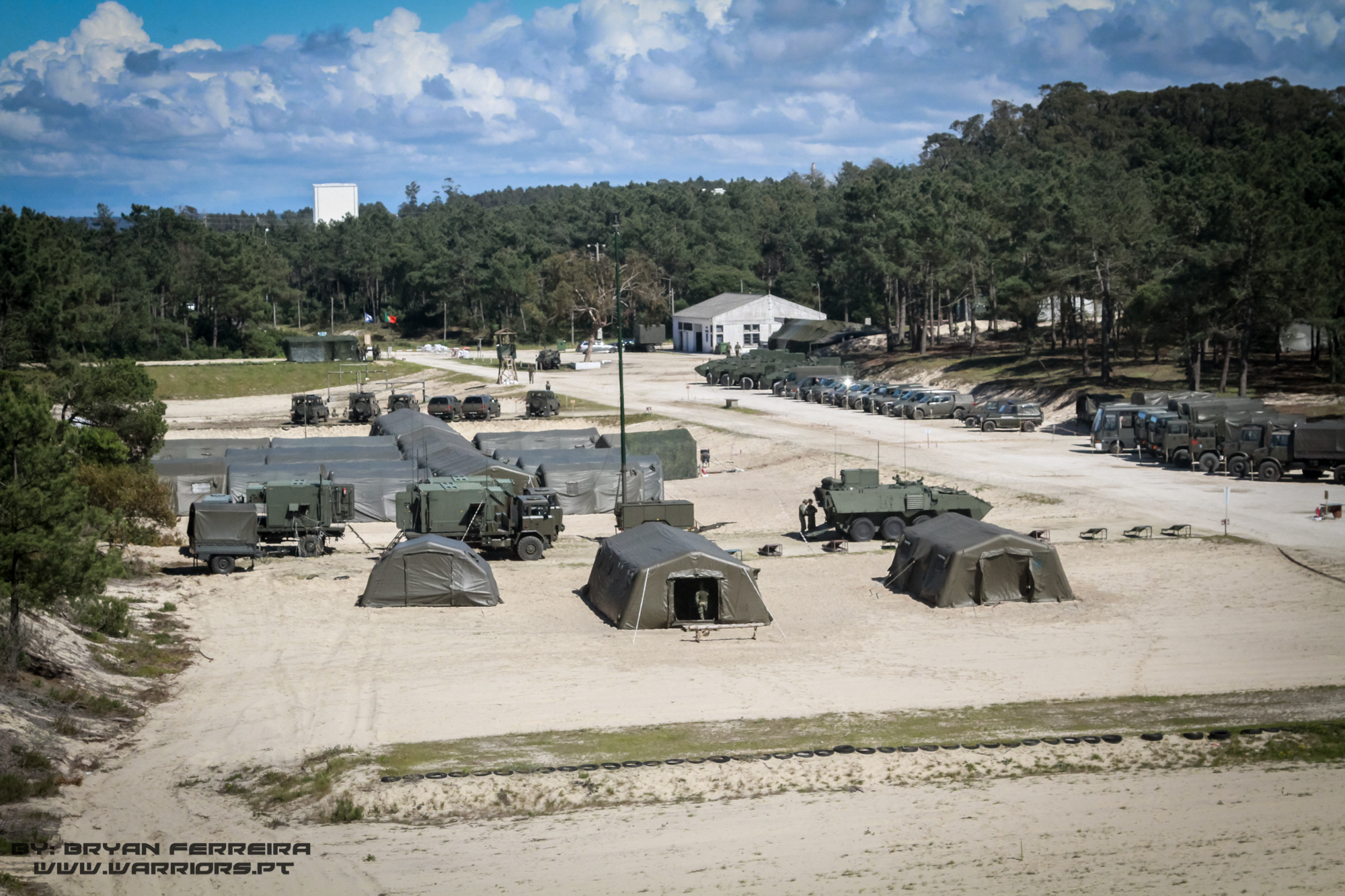 A área envolvida pelo posto de Comando da Brigada de Intervenção