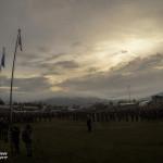 No fim do Exercicio Quick Response realizou-se uma Cerimónia de Arriar da Bandeira na FOB do KTM.