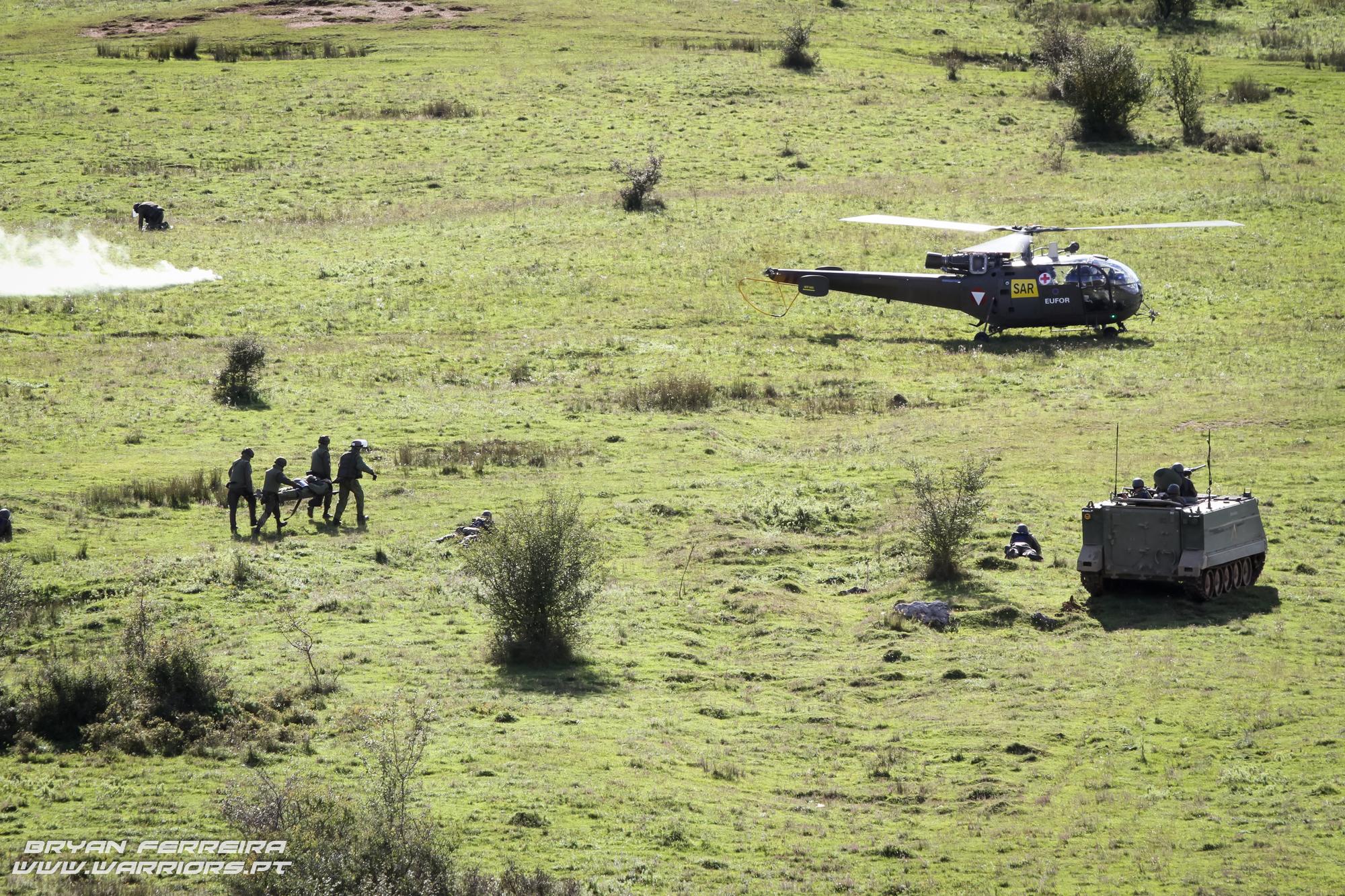 Os Allouete providenciaram missões de SAR (Search and Rescue) para todas as forças presentes no exercicio.