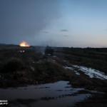 Tank shot impact