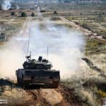 Portuguese Mechanized Brigade Leopard 2A6 Tank fires a round